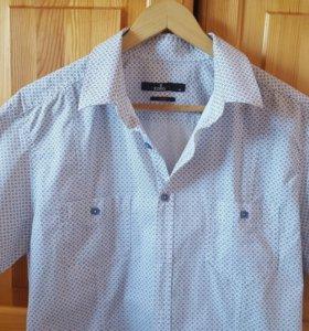 Рубашка с коротким рукавом , размер 44