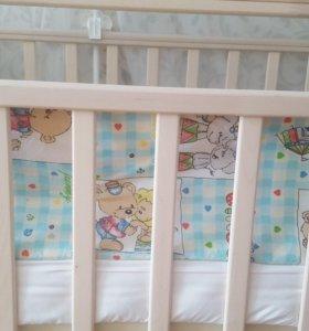 Кроватка детская (маятник, трансформер)