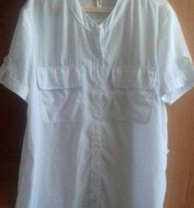 Блузка шелковая белая