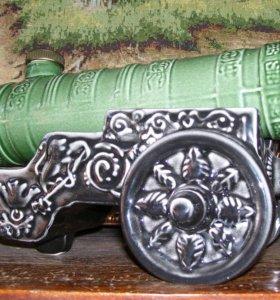 Сувенир пушка-фляга керамика