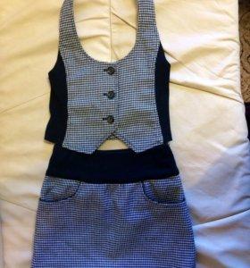 Костюм (юбка, жилетка) школьная форма