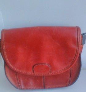 Кожаный клатч Zara