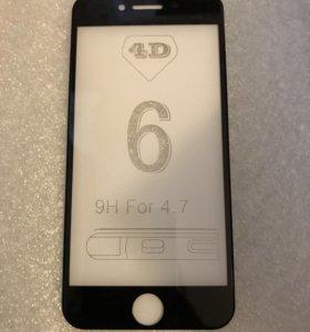 4D стекло на iPhone 6