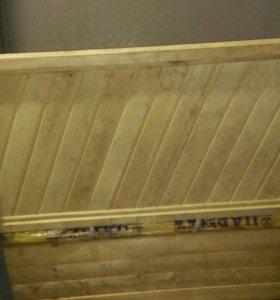 Дверь в баню липа с коробкой и петлями