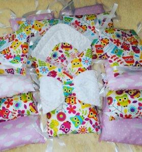 Бортики-подушки, Конверт на выписку