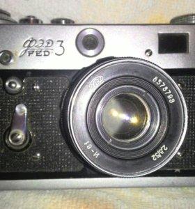 Фотоаппарат фед-3 со вспышкой 2 шт