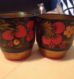 Деревянные чашки