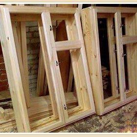 Деревянные оконные рамы , окна