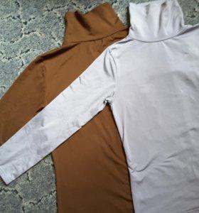 Водолазки и желтый кашемировый свитер р44-46