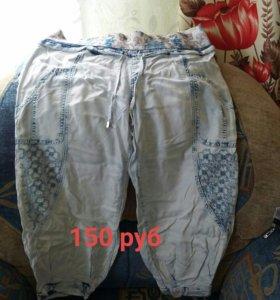 Бриджи джинсовые летние