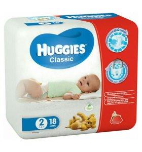 Подгузники детские HUGGIES CLASSIC 2