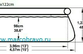 Бассейн fast SET 4.57 м 1.22 м