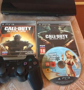 Playstation 3 Super slim 500gb+3 игры