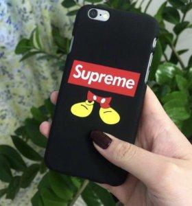 Чехол supreme на айфон 5, 5s, 6, 6s