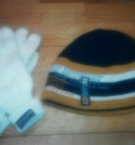 Перчатки и шапочка.
