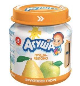 Пюре Агуша фруктовые 66 банок