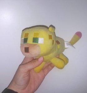 Оцелот из майнкрафт мягкая игрушка