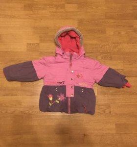 Зимняя куртка на девочку - 2/3 года
