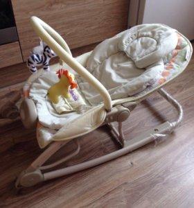 Шезлонг-качалка для новорождённых Bambola