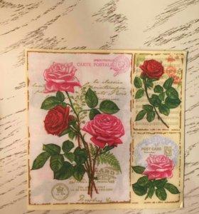 Салфетки для декупажа розы