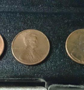 1 цент США.