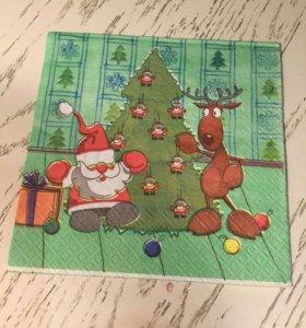 Салфетки для декупажа Новый год