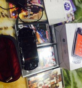 PSP 3008 (черный) с дисками и прошивкой