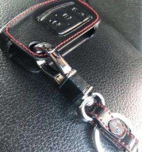 Кожаный чехол на ключ ford focus 2