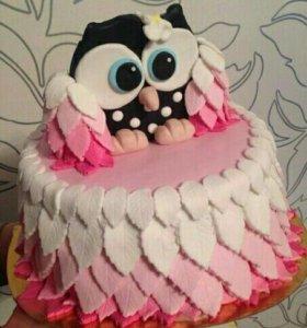 Торт на заказ совушка