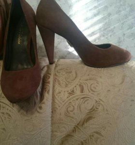 Туфли замша р.34-35