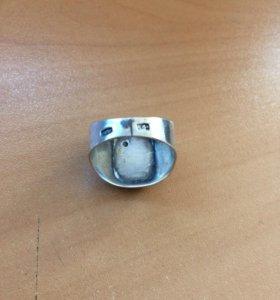 Серебряный перстень с олимпийским мишкой 1980 г