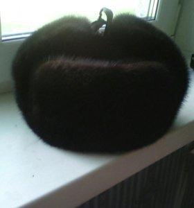 Продам норковую шапку ушанка