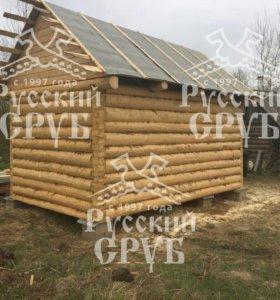 Хорошая банька 3х5 из Псковского леса.
