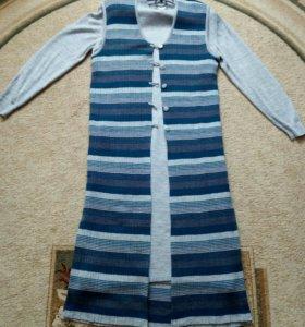 Трикотажное платье с кардиганом, размер 50