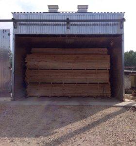 Услуги сушки пиломатериалов, древесины, поддонов