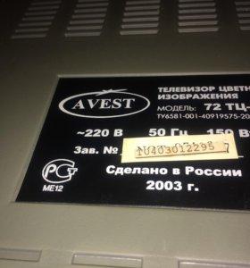 Телевизор авест 72 тц -03, диагональ 70 см