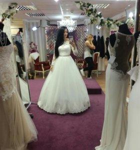 Свадебное платье+ подарок!)