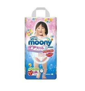 Трусики MOONY L(9-14кг) 44шт для девочки