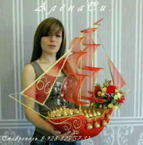 Корабли из конфет!