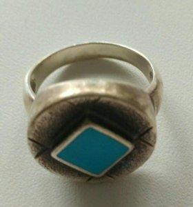 Кольцо серебряное с берюзой
