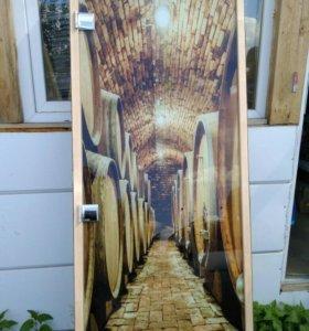 Двери для бани с фотопечатью