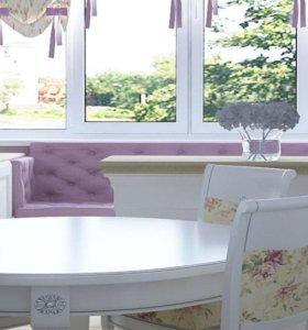 Мебель и декоративные панели с каретной стяжкой
