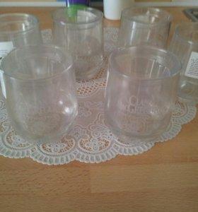 Новые стаканы 100р за 6штук