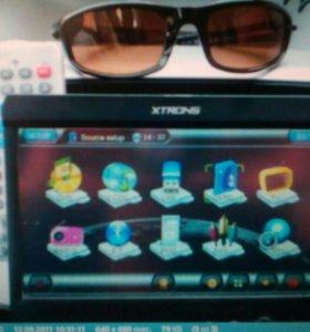 "Магнитола мультимедиа XTRONS 707 GPS 1 din 7""экран"