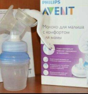 Молокоотсос Avent ручной с контейнерами