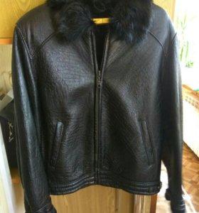 Куртка-дубленка кожаная