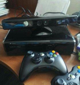 Xbox 360 s 250gb + Kinect + 5 игр