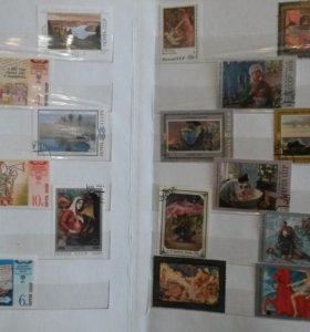 Альбомы с марки СССР и ГДР