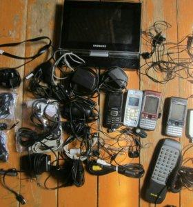 Зарядки для телефонов, телефоны  прово на запчасти