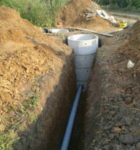 Копка водопровода канализации.